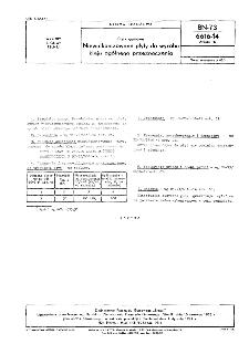 Płyty gumowe - Niewulkanizowane płyty do wyrobu kleju ogólnego przeznaczenia BN-73/6616-14 Arkusz 16
