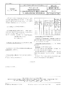 Płyty gumowe - Wulkanizowane i niewulkanizowane płyty odporne na podwyższone temperatury BN-73/6616-14/18