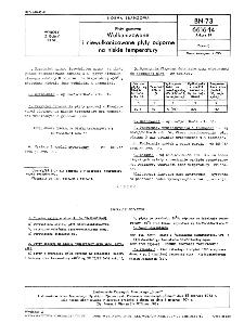 Płyty gumowe - Wulkanizowane i niewulkanizowane płyty odporne na niskie temperatury BN-73/6616-14 Arkusz 19