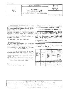 Płyty gumowe - Wulkanizowane płyty o podwyższonych wymaganiach BN-73/6616-14 Arkusz