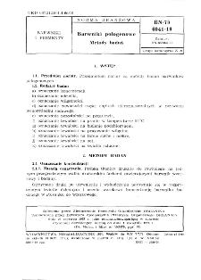 Barwniki pologenowe - Metody badań BN-75/6041-10