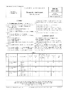 Barwniki kadziowe - Metody badań BN-86/6041-01