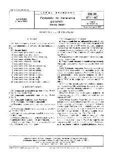 Pigmenty dobarwienia poliolefin - Metody badań BN-90/6041-05