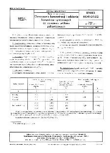 Barwniki syntenowe - Oznaczanie koncentracji i odcienia barwników syntenowych do barwienia włókien poliamidowych BN-83/6041-07.02