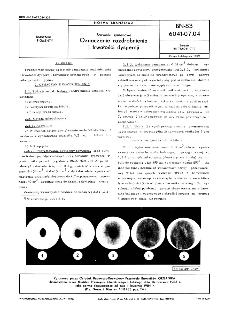Barwniki syntenowe - Oznaczanie rozdrobnienia i trwałości dyspersji BN-83/6041-07.04