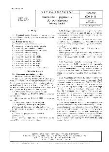Barwniki i pigmenty do polistyrenu - Metody badań BN-92/6041-11