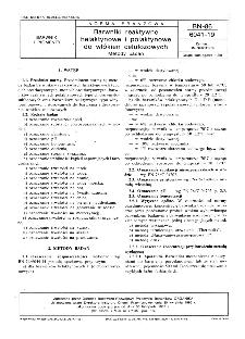 Barwniki reaktywne helaktynowe i polaktynowe do włókien celulozowych - Metody badań BN-86/6041-19