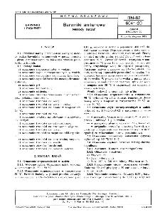 Barwniki anilanowe - Metody badań BN-82/6041-20