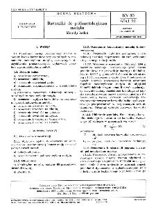 Barwniki do poliimetakrylanu metylu - Metody badań BN-80/6041-21