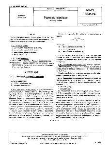 Pigmenty elanilowe - Metody badań BN-71/6041-24