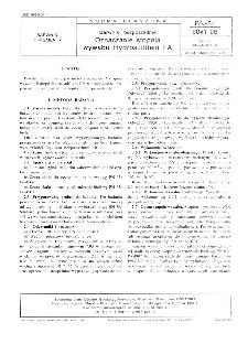 Barwniki bezpośrednie - Oznaczanie stopnia wywabu Hydrosulfitem FA BN-84/6041-26