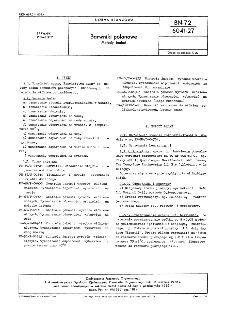 Barwniki polanowe - Metody badań BN-72/6041-27
