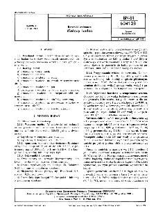 Barwniki welanowe - Metody badań BN-81/6041-28