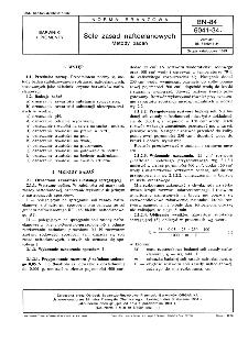 Sole zasad naftoelanowych - Metody badań BN-84/6041-34