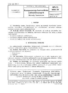 Komponenty barwników naftoelanowych - Metody barwienia BN-75/6041-39