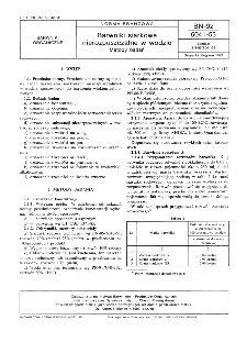 Barwniki siarkowe nierozpuszczalne w wodzie - Metody badań BN-92/6041-53