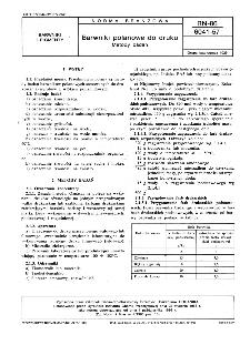 Barwniki polanowe do druku - Metody badań BN-86/6041-57