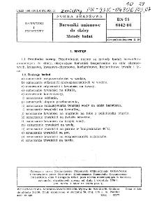 Barwniki anionowe do skóry - Metody badań BN-75/6042-06