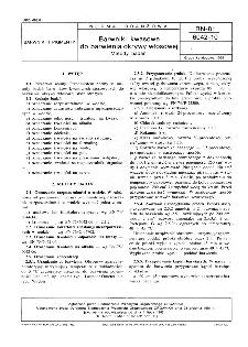 Barwniki kwasowe do barwienia okrywy włosowej - Metody badań BN-81/6042-10