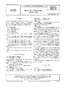 Barwniki polfanilowe - Metody badań BN-84/6042-12