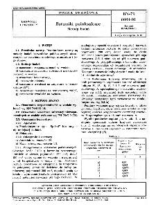 Barwniki poloksalowe - Metody badań BN-79/6041-01