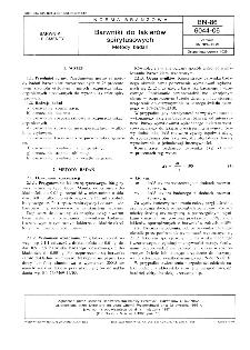 Barwniki do lakierów spirytusowych - Metody badań BN-86/6044-06