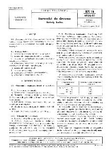 Barwniki do drewna - Metody badań BN-78/6044-07