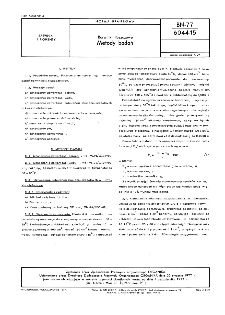 Barwniki tłuszczowe - Metody badań BN-77/6044-15