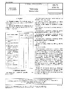 Nigrozyny - Metody badań BN-79/6044-16