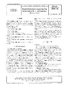 Środki barwiące do podeszw formowanych z poliuretanu - Metody badań BN-84/6044-19