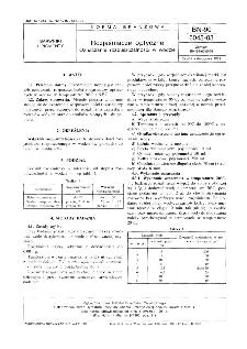 Rozjaśniacze optyczne - Oznaczanie rozpuszczalności w wodzie BN-90/6045-03