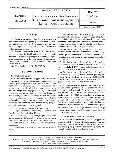Rozjaśniacze optyczne dla włókiennictwa - Oznaczanie dawki maksymalnej koncentracji i odcienia BN-77/6045-04