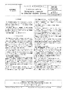 Rozjaśniacze optyczne - Oznaczanie trwałości na sztuczne światło dzienne BN-86/6045-09
