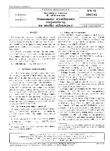 Rozjaśniacze optyczne dla włókiennictwa - Oznaczanie wrażliwości rozjaśniaczy na środki utleniające BN-78/6045-46