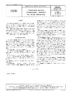 Rozjaśniacze optyczne - Oznaczanie trwałości na wodę utlenioną BN-80/6045-51