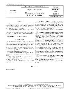 Rozjaśniacze optyczne - Oznaczanie trwałości na chloryn sodowy BN-80/6045-54