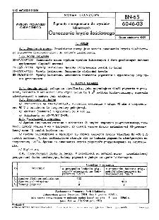 Pigmenty nieorganiczne do wyrobów lakierowych - Oznaczanie krycia ilościowego BN-65/6046-03