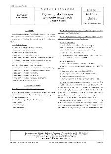 Pigmenty do tłoczyw termoutwardzalnych - Metody badan BN-88/6047-12