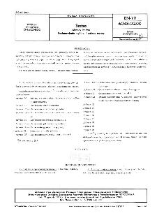 Sadza - Metody badań - Postanowienia ogólne i zakres normy BN-79/6048-02-00
