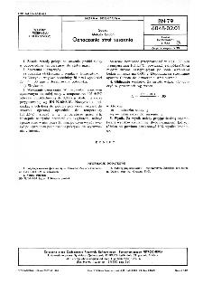 Sadza - Metody badań - Oznaczanie strat suszenia BN-79/6048-02-01