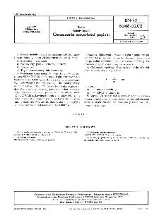 Sadza - Metody badań - Oznaczanie zawartości popiołu BN-79/6048-02-02
