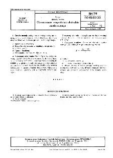 Sadza - Metody badań - Oznaczanie zawartości ekstraktu acetonowego BN-79/6048-02-03