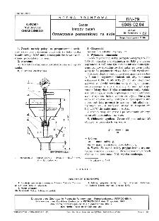 Sadza - Metody badań - Oznaczanie pozostałości na sicie BN-79/6048-02-04