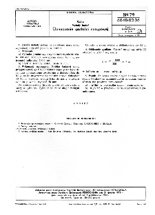 Sadza - Metody badań - Oznaczanie gęstości nasypowej BN-79/6048-02-06