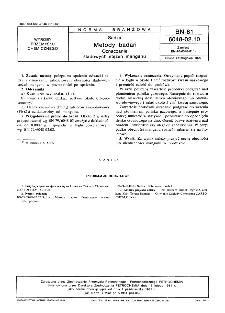 Sadza - Metody badań - Oznaczanie śladowych stężeń manganu BN-81/6048-02-10