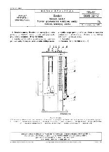 Sadza - Metody badań - Pomiar powierzchni właściwej sadzy metodą adsorpcji azotu BN-81/6048-02-12