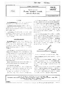 Wyroby lakierowe - Pomiar twardości powłok metodą ołówkową BN-78/6110-03