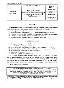 Wyroby lakierowe - Badanie powlok lakierowych na napiętych tkaninach lotniczych BN-75/6110-08