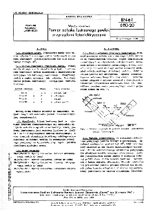 Wyroby lakierowe - Pomiar połysku lustrzanego powłok przyrządami fotoelektrycznymi BN-67/6110-20