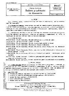 Wyroby lakierowe - Badanie przydatności do dosuszania BN-67/6110-22